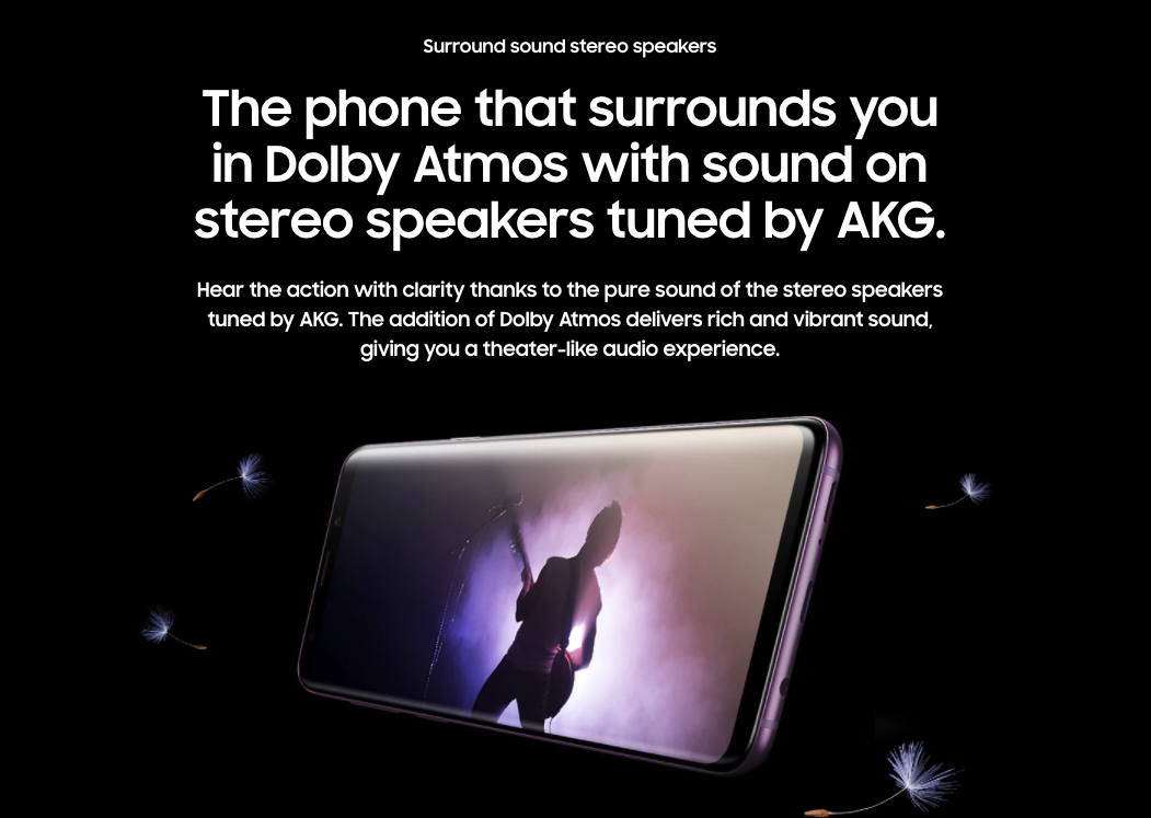 samsung s9 sound stereo speakers